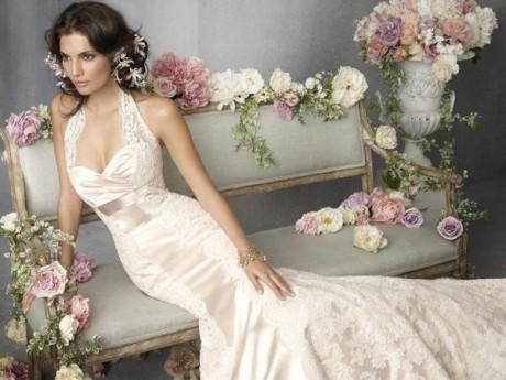Svadobné šaty - krémové, šanské